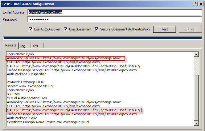 How to verify the OAB and EWS url for Outlook Online